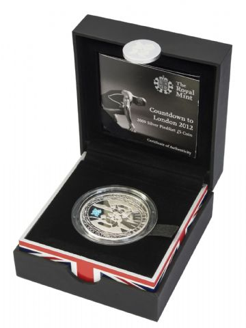 2009 Silver Proof Piedfort £5 Coin Count Down to the Olympics